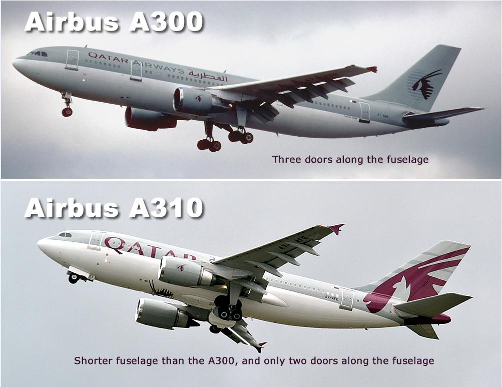 Airbus A300 vs Airbus A310
