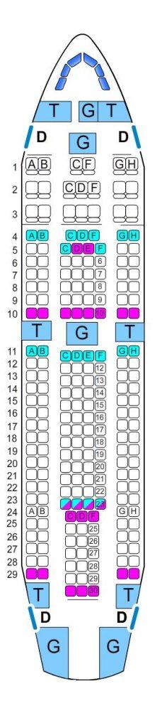 Mapa de asientos airbus a310